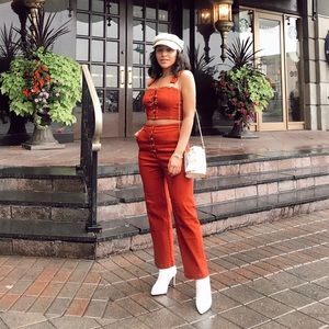 Pants - Two-piece set in RUST